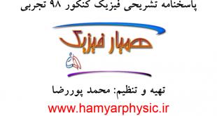پاسخنامه تشریحی فیزیک کنکور 98 تجربی - محمد پوررضا