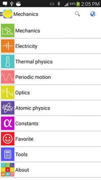 دانلود نرم افزار اندرویدی فرمول های فیزیک Physics Formulas